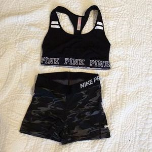 Sports bra and shorts